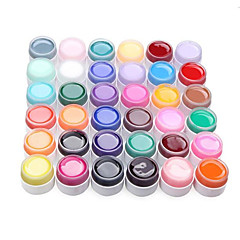 36PCS Manicure Nagelsonder Pure Color Mix UV Color Gel Kits (8 ml)
