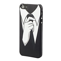 Black Tie Style Protective Hard Back Case for iPhone 5/5S