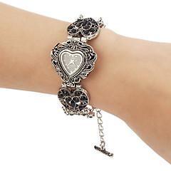 Women's Vintage Heart Shape Round Dial Alloy Band Quartz Analog Bracelet Watch Cool Watches Unique Watches