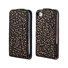 3D Hollow Out Decorative Pattern Leather Full Body Case for iPhone 4/4S(Assorted Colors)
