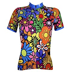 PALADIN Bike/Cycling Jersey / Tops Women's Short Sleeve Breathable / Ultraviolet Resistant / Quick Dry 100% Polyester Floral / Botanical