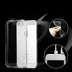 TPU Soft Transparent Dust Proof Case for iPhone 5/5S