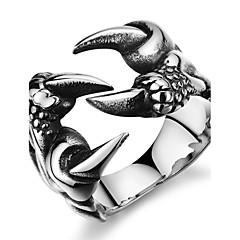 Fashion Wolf's Paw Personality Forward Stainless Steel Men's Ring (1 Pcs)