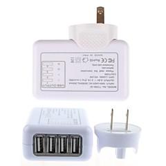 4 USB-hubs aftagelig indendørs væg oplader til iPhone 6 iPhone 6 plus / iPad og andre (5v 2.1a, os plug)