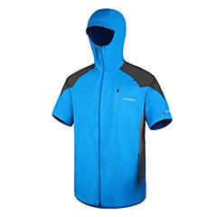 AMADIS Blue Polyester Short Sleeve Anti-UV Fishing Jacket