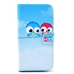 Carino Owl modello pu custodia in pelle con slot per schede detentore di moneta per Samsung Galaxy S3 I9300