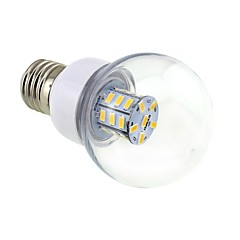 4W E26/E27 LED Globe Bulbs G60 27 SMD 5730 500 lm Warm White DC 12 / AC 12 / AC 24 / DC 24 V