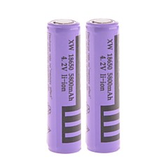 "Power 4.2V  Rechargeable  18650 Li-ion ""5800mAh"" Battery with Protection Board  (2PCS)"
