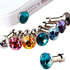 Anti Polvo para la Toma de Auriculares en Forma de Diamante (Colores Aleatorios)