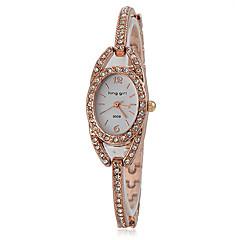 Diamant Décor Slim Steel Band bracelet à quartz pour femmes (couleurs assorties)