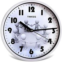 "Timess™ 9""H Style Happy Mute Wall Clock"