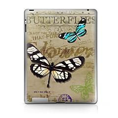 Pattern borboleta Etiqueta protetora para iPad 1/2/3/4