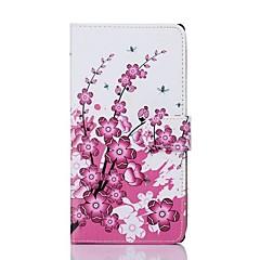 Plum blomstermønster PU læder Full Body Taske til Sony T2