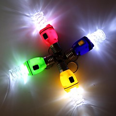 Spiral Bulb Style LED White Flashlight Keychain - 1Pcs(3 x AG3)