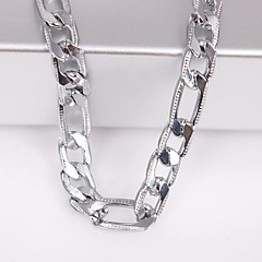 Eruner®Unisex 6MM Silver Chain Necklace NO.115