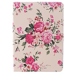 Flower Pink Design PU Full Body Case with Stand for iPad Air