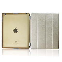 ikodoo ® Slim Soft Smart PU Leather Cover Hard plast sak for iPad 2/3/4 (assorterte farger) KPI-26TS