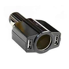 Car Cigarette Lighter Dual USB 5V Port Charger for iPhone iPad HTC Samsung