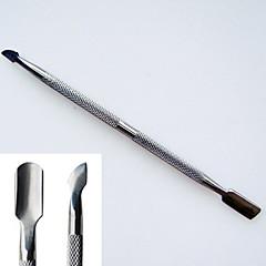 roestvrij staal dual-use dode huid pusher eelt verwijderen & acryl nagel remover spijkerhulpmiddel