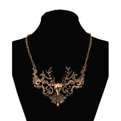 Damskie Oświadczenie Naszyjniki Animal Shape Jeleń Oświadczenie Biżuteria Osobiste Gold Biżuteria Na Impreza