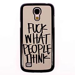 ficken, was die Leute denken, Design Aluminium Etui für Samsung Galaxy i9500 s4