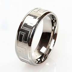 Z&X®  Men's Fashion And Personality Great Wall Lines Titanium Steel Ring