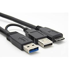 USB 3.0 een usb 2.0-man op man micro b stroom data kabel voor mobiele hdd ssd 0.6m 1.9ft