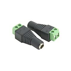10 buc IDC Tip 2.1 x 5.5mm DC Plug Femeie Jack Adaptor Conector gratuit lipit pentru CCTV Transport Gratuit