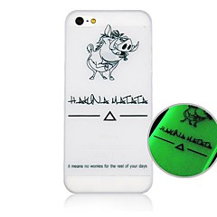 Cartoon Pig Fluorescence after Sunniness Hard Back Case for iPhone 4/4S