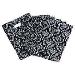 Patrón del diseño simple anillo Llama Negro Bolsa Ambiental (45pcs)