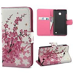 Mini Patrón de flor elegante caja de la PU del cuero con el soporte y ranura para tarjeta para Nokia Lumia 630
