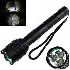 Zweihnder recargable 5-Mode 3xCREE XML-T6 LED (2400LM, 2 x 14500, Negro)