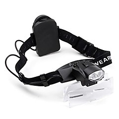 Justerbar 2-LED Illuminating Maintenance Magnifier (1.0x - 6.0x)