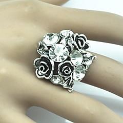 טבעות מתכווננת Party / יומי תכשיטים סגסוגת נשים טבעות הצהרהמתכוונן לבן