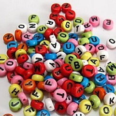 Z&X®  DIY Beads Material Color Letter Beads 100 PCS(Random Color, Pattern)