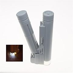 bärbar lysdioden lyser 40x binokulärt mikroskop (2 x aa)