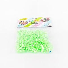 zöld szövőszék zenekarok random színű gumiszalagot (200db zenekarok, 12db s horog, 1db horgolt horog)