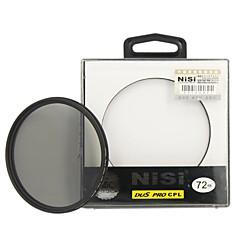 nisi 72mm pro cpl ultra mince filtre circulaire de l'objectif de polariseur