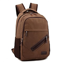 Outdoors Fashional Brown Canvas Backpack