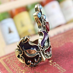 Europe Style Vintage Gothic Punk Palace Mask Ring