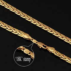 U7® High Quality Vintage 18K Chunky Gold Filled Figaro Chain Necklace for Men 6MM 22Inches 55CM