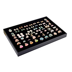 Classic Big Size Ring Earrings Jewelry Stand Black Paper Flannelette Jewelry Boxes(1 Pc)