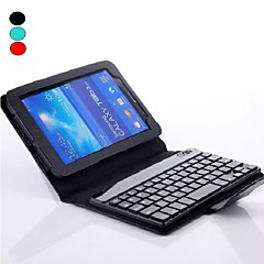 PU Leather Case Bluetooth Keyboard with Stand Holder for GALAXY Tab 3 Lite T110(Assorted Colors)
