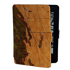 ruskea tausta maailmankartalle kuvio PU nahkakotelo Kindle paperwhite