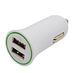 2.1A / 1 א Dual-USB Mini אוטומטי מטען לרכב מתאם עבור iPhone iPod טלפון חכם