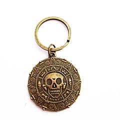 vintage pirat mynt bronse legering nøkkelring (1 stk)