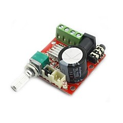 mini digital audio forsterker 10w + 10w / 2 kanals amp / diy modul klasse d hifi 2.0 (DC12V)