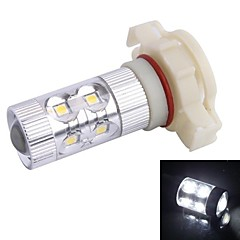H16 60W 12xLED SMD 650LM 6500K White Light LED for Car Foglight Headlamp (DC12-24V)
