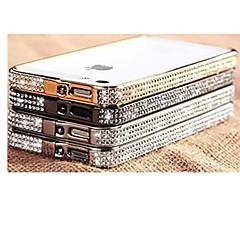 Joyland metallin ja timantti kristalli pintametalli puskurin runko iPhone 4/4S (valikoituja väri)