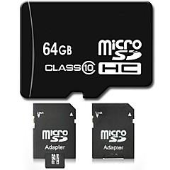 dsb® 64 gb clase 10 sdhc sd tarjeta de memoria flash tf micro con adaptador SD de alta velocidad verdadera